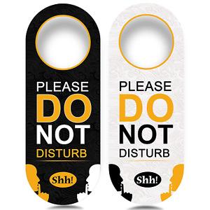 4 Pack Do Not Disturb Door Hanger Sign Funny, Meeting in Progress Door Sign