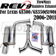Rev9 FlowMaxx Stainless Axle-Back Exhaust 62mm Pipe For Lexus GS300/GS350 06-11