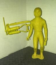 "Vintage Marx-Like 5"" YELLOW ASTRONAUT Action Figure w/ Oxygen Tank VG+ 4.5"