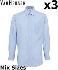 VAN HEUSEN MENS SHIRTS X3 BUSINESS STRIPE CLASSIC FIT SHIRT A106