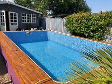 More details for swimming pool diy self build block & liner pool kit 20 ft x 10 ft flat floor