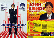 JOHN BISHOP TOUR FLYERS X 2 - 2014 SUPERSONIC & 2011 TOUR - COMEDY COMEDIAN