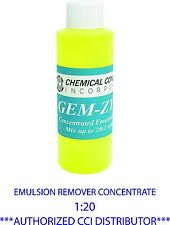 CCI GEM-ZYME stencil/emulsion remover concentrate. 4oz. CCI Dealer Free Shipping