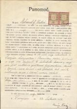 Bosnia-Herzegovina document revenues 1912 fiscal Austria Stempelmarken