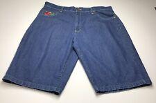 Noiz Jeans Men's Denim Jean Shorts 42 Dark Wash Multicolor Checker Pockets Bold