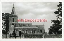 REAL PHOTOGRAPHIC POSTCARD OF WEEKLEY CHURCH (NEAR KETTERING), NORTHAMPTONSHIRE
