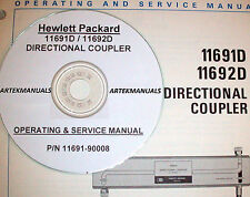 Hp 11691D 11692D Directional Coupler Operating & Service Manual