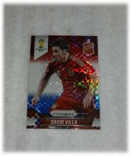 2014 Panini Prizm World Cup Red Blue Plaid David Villa - Spain #178