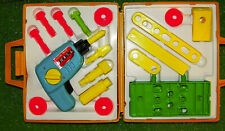 Vintage 1977 Fisher Price Toy Tool Kit Complete #924 Drill USA - Exc Condition