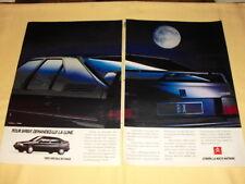 CITROËN BX Publicité Advertising (2 pages)