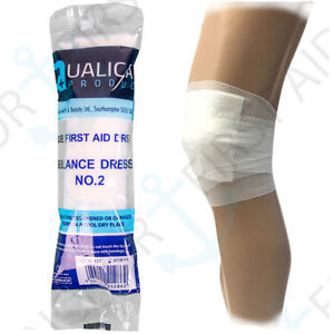 5 x No.2 Serious Injury Bandages/Dressings STERILE FIRST AID Trauma/Accident HSE