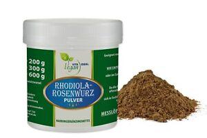 VITAIDEAL VEGAN® Rosenwurz Wurzel Pulver (Rhodiola rosea) + Messlöffel