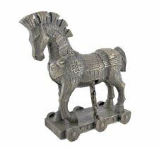Brand New Ancient Greek Bronzed Trojan Horse Statue Cold Cast Bronze