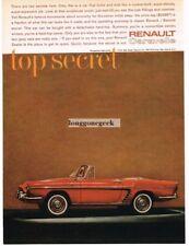 1961 Renault Caravelle Convertible Automobile Car Vtg Print Ad