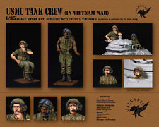 1/35 Scale resin kit USMC Tank Crew in Vietnam War (3 Figures)