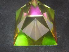 COLORFUL 60MM LEAD CRYSTAL EGYPTIAN PYRAMID GLASS PRISM VITRAIL SUN RAINBOWS