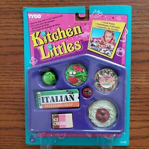 Vintage Tyco Kitchen Littles Italian Set 1995 New Unopened Package