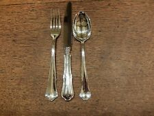 Robbe&Berking 'Chippendale' Sterling Silver Table KnifeTable Fork&Dessert Spoon