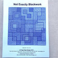 Not Exactly Blackwork Needlepoint reference pack Susan Jones Finger Step Design
