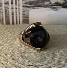 Gold Brass Colour Chunky Large Spinning Stone Ring Unusual