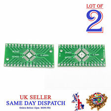 2x 2 lato PCB QFN32 a QFP32 0.8 mm / 0,65 mm pin SIDE ADAPTER BOARD IC PIASTRA