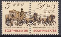 DDR 1985 Mi. Nr. 2965-2966 Zusammendruckpaar Postfrisch ** MNH