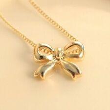 Small Gold Bow Necklace