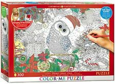 Eurographics Puzzle 300 Piece Jigsaw - Colour-Me - Holly Jolly Owl  EG60330885