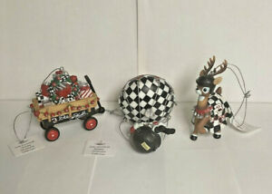 Vintage Dale Earnhardt Holiday Ornament collection - wagon, balloon & deer