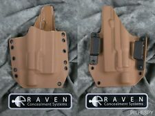 NEW RAVEN CONCEALMENT GLOCK 19 23 32 SUREFIRE X300 COYOTE BELT HOLSTER 9 40