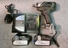 """HITACHI WR 18DBDL 18V BRUSHLESS IMPACT WRENCH 1/2"""" DRIVE W/ BATTERIES & CHARGER"""