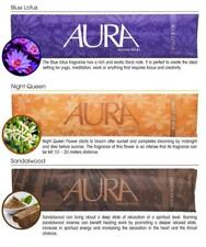 AURA Incense Stick 5 Pack. Night Queen / Blue Lotus / Frangipani