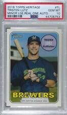 2018 Topps Heritage Minor League Edition Real One Tristen Lutz PSA 10 Auto