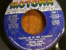 """DIANA ROSS 45 RPM """"Touch Me in the Morning"""" & """"I Won't Last a Day..."""" VG cond."""