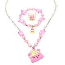 Num Noms Scented Jewelry Set of 3 Necklace Bracelet & Ring Birthday Cake New