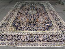 Old Hand Made Traditional Persian Rugs Oriental Wool Blue Large Carpet 420x283cm
