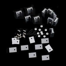 10pcs Aluminum Heatsink Heat Sink with Screw Sets TO-220 Transistor 20×15×10mm