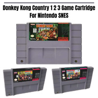Donkey Kong Country 1 2 3 Game Cartridge For Super Nintendo SNES Region Free