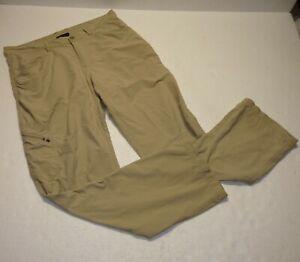 Men's Patagonia Outdoor Lightweight Hiking Cargo Pants Khaki Brown Size 34 X 30