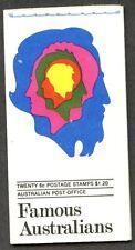 Australia Sc#454a-457a 1970 Famous Australians Booklet Complete Mint Nh