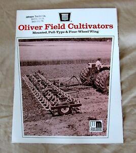 Vintage Oliver Corporation Field Cultivators Advertising Brochure -Ca 1970!