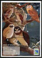 ST. VINCENT GRENADINES OWLS OF BRAZIL SHEET  MINT NH