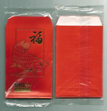 BAN HIN LEE BANK Rare Vintage ANG POW RED PACKET x10pcs Original Plastic Packing