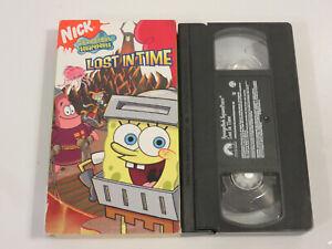 SPONGEBOB SQUAREPANTS LOST IN TIME CARTOON VIDEO VHS ORIGINAL CLASSIC