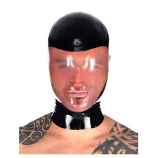 Sexy Latex Rubber Hood Masks for Unisex Catsuit Gummi 0.4mm Unique Party