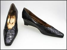 Wedge Leather Wear to Work Pumps, Classics Heels for Women
