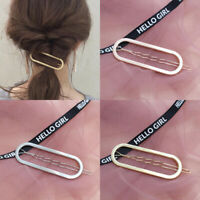 Fashion Women Geometry Hollow Clips Barrette Stick Comb Hairpin Hair Accessories