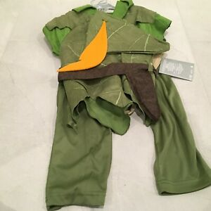 NWT Disney Store Peter Pan Costume Child SZ 4 Pants Hat Boot Covers