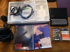 SINCLAIR ZX 81 HOME COMPUTER WORKING inc GAMES , LEADS , POWER PACK , MANUAL