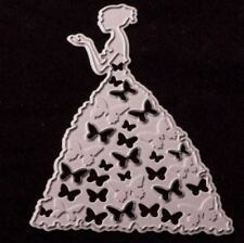 Girl with Butterfly Dress metal die - for use in most cutting systems!